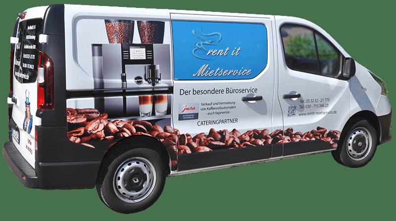 Lieferwagen vom Lieferservice