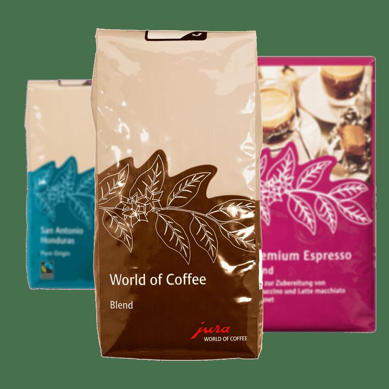 Verschiedene Sorten Kaffee