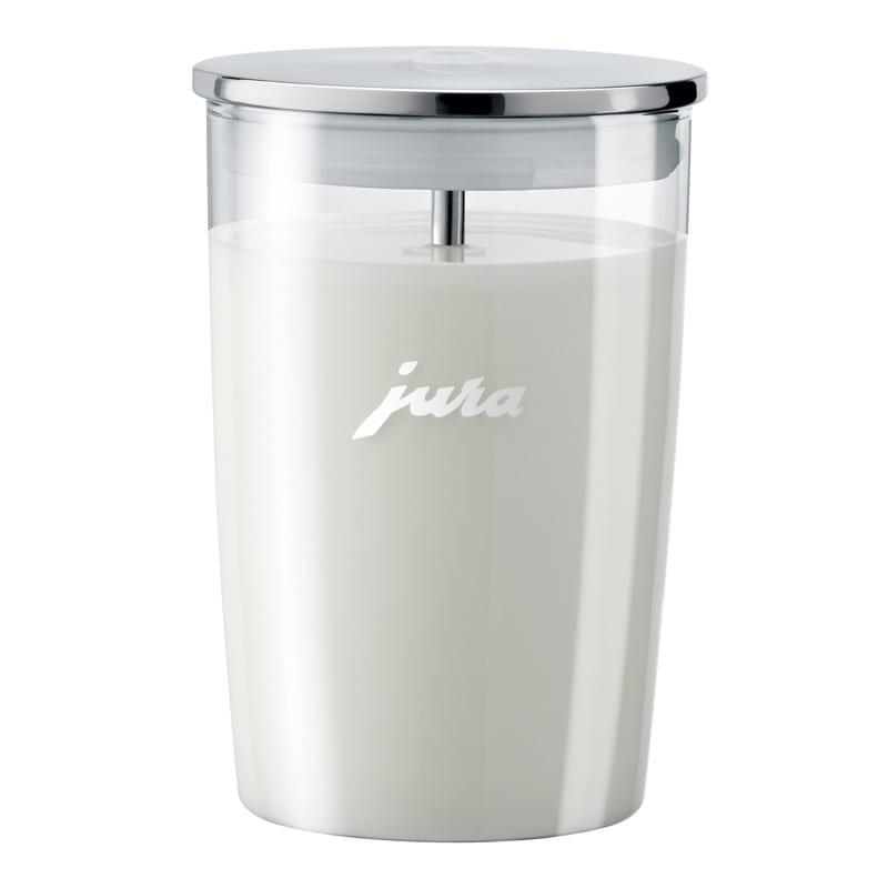 Milchbehälter Jura gefüllt