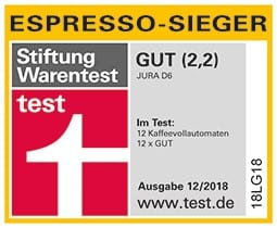 Stiftung Warentest Espresso Testsieger Note 2,2